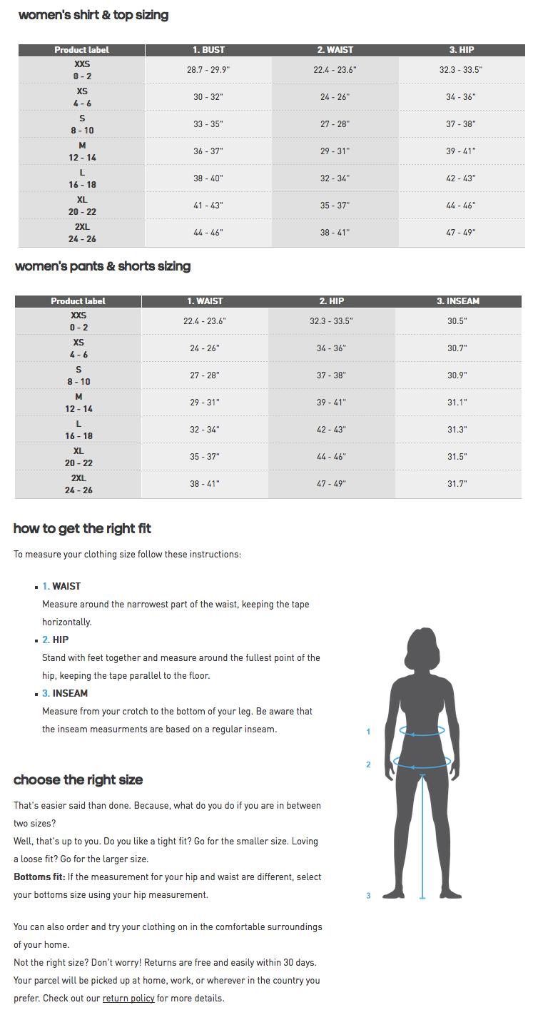 Adidas Sizing Charts
