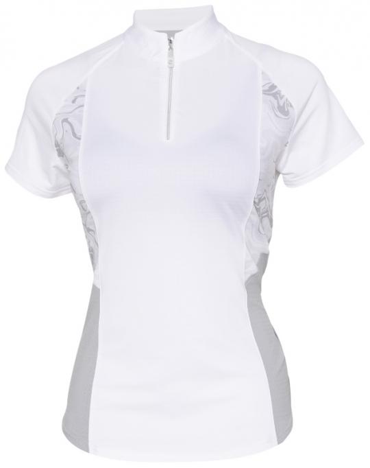 ac787fc6f3c85c Lori s Golf Shoppe  SALE Bette   Court Ladies CE Orbit Short Sleeve Golf  Shirts - ODYSSEY (White)