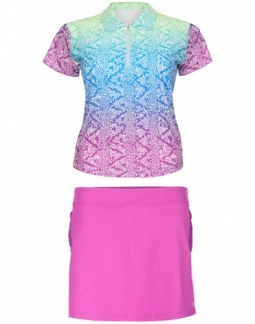 Bette & Court Ladies and Plus Size Golf Outfits (Shirt & Skort) - Cool Elements/Lookin' Berry Good