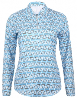 Bette & Court Ladies CE Caret Long Sleeve Golf Polo Shirts - Blue My Mind (Electric Blue)