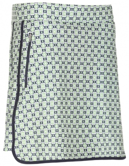 "Bette & Court Ladies Buckle 18"" CE Print Pull On Golf Skorts - Green Come True (Apple)"