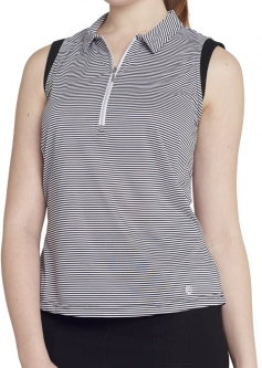 Lori 39 s golf shoppe ggblue ladies fab fit pull on golf for Plus size sleeveless golf shirts