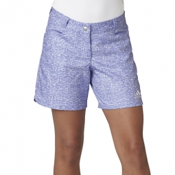 Adidas Junior Girls Print Pull On Golf/Tennis Shorts -  Chalk Purple