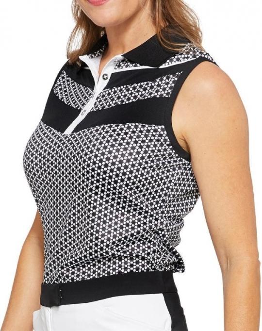 d20e7a27 Lori's Golf Shoppe: GGblue Ladies Sonia Sleeveless Golf Polo Shirts -  VELOCITY (Comet)