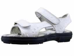 Golfstream Ladies Golf Spikeless Sandals - White Faux Ostrich