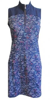 CLEARANCE EP New York Ladies Sleeveless Golf Dresses - The Taj (Inky Multi)