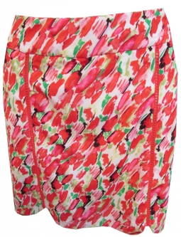 CLEARANCE EP New York Ladies & Plus Size Pull On Golf Skorts - Poppy Fields (Poppy Zest Multi)