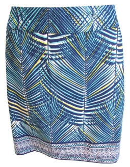 "CLEARANCE EP New York Ladies 19"" Pull On Golf Skorts - Palmetto (Batik Blue Multi)"