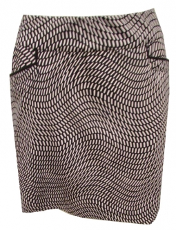 "CLEARANCE EP New York Ladies & Plus Size 17.5"" Pull On Golf Skorts - Marbella (Black Miulti)"