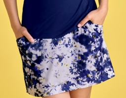 "CLEARANCE EP New York Ladies & Plus Size 17.5"" Pull On Golf Skorts - Spectator Sport (Inky Multi)"
