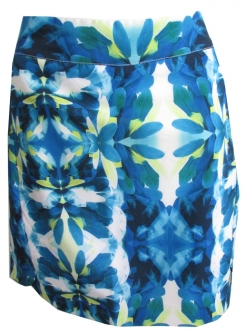 "EP Pro Ladies & Plus Size 19"" Pull On Golf Skorts - Ipanema (Belo Blue Multi)"