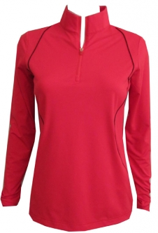 CLEARANCE EP New York Ladies & Plus Size Long Sleeve Golf Shirts - Poppy Fields (Poppy Zest Multi)