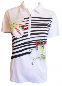CLEARANCE EP New York Ladies & Plus Size S/S Golf Shirts - Culture Clash (White Multi) Spring 2018