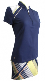 EP New York Ladies & Plus Size Golf Outfits (Shirt & Skort) - Spectator Sport (Inky Multi)