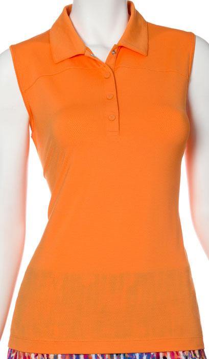 e661befa4e533 SALE EP New York Ladies   Plus Size Sleeveless Golf Shirts - Brilliants  (Tango)