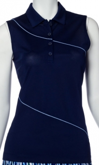 SALE EP New York Ladies Sleeveless Golf Shirts - Luxor (Inky Multi)