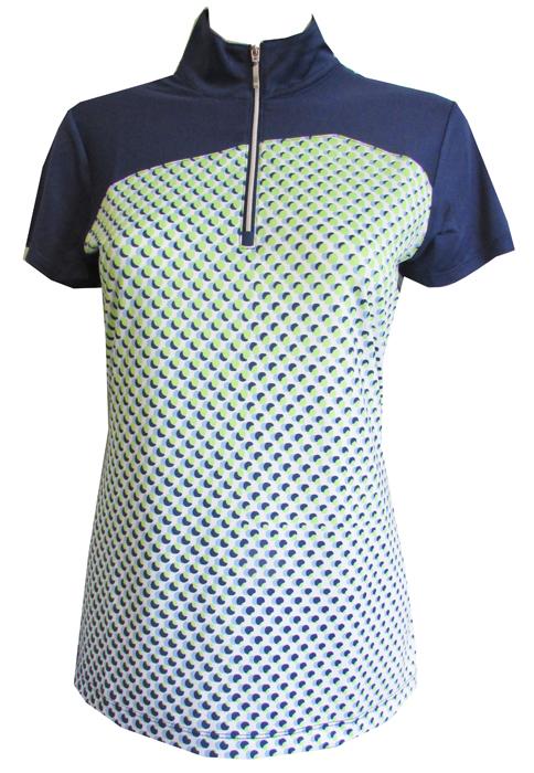 20c9c4414af EP New York Ladies   Plus Size Short Sleeve Golf Shirts - Good Sport (Inky