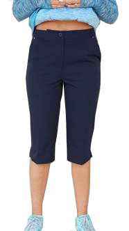 "CLEARANCE EP Pro ""Basic"" Ladies and Plus Size Golf Crop Pants - Black, Navy & Stone"