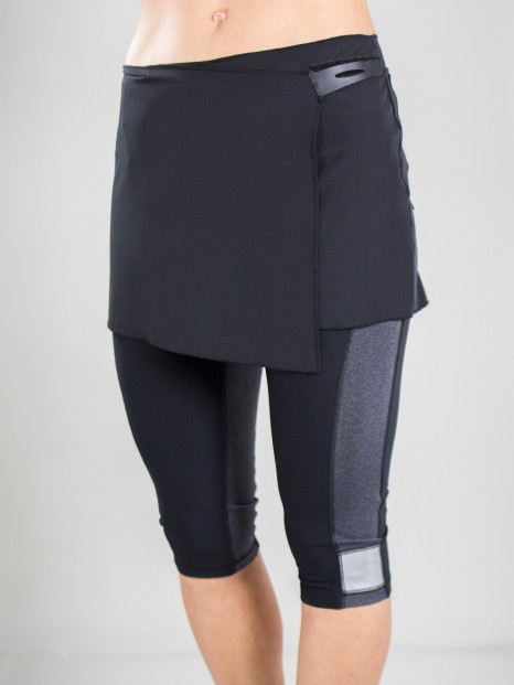71b5a405e17 Lori s Golf Shoppe  CLEARANCE JoFit Ladies Wrap Pocket Fitness Skirts -  Sangria (Black)