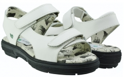 Greenleaf Sport Ladies 2-Strap Spikeless Golf Sandals - Classic White