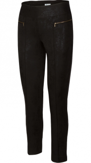 Greg Norman Ladies & Plus Size Elite Pull On Stretch Golf Ankle Pants - IMPERIAL (Black)