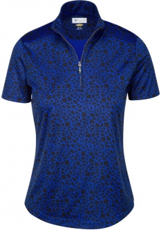 CLEARANCE Greg Norman Ladies ML75 S/S Golf Shirts - ANIMAL INSTINCTS (Black) - Fall 2017