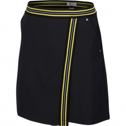 "SPECIAL Greg Norman Ladies ML75 Tour 18"" Pull-On Golf Skorts - GRAND PRIX (Black)"