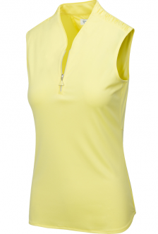 SPECIAL Greg Norman Ladies ML75 Triple Crown Sleeveless Zip Golf Shirts - GRAND PRIX (Flash Yellow)