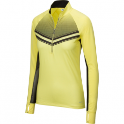 SPECIAL Greg Norman Ladies Solar XP ½-Zip Match L/S Golf Shirts - GRAND PRIX (Flash Yellow)