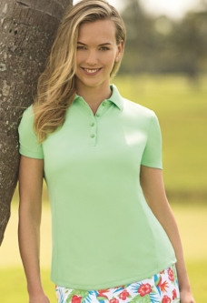 Greg Norman Ladies & Plus Size S/S Protek Micro Pique  Golf Shirts - Essentials (Assorted Colors)