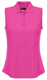 Greg Norman Ladies & Plus Size Sleeveless Protek Micro Pique Golf Shirts - ESSENTIALS (Assorted)