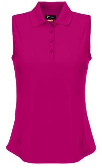 Greg Norman Ladies & Plus Size Sleeveless Protek Micro Pique Golf Shirts - Essentials (Assorted Colo
