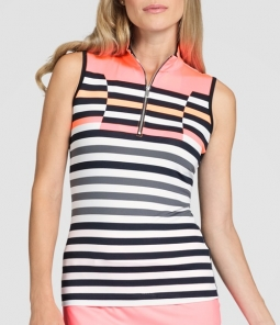 Tail Ladies Cindy Sleeveless Golf Tops - VIBRANT BLOOM (Verge)