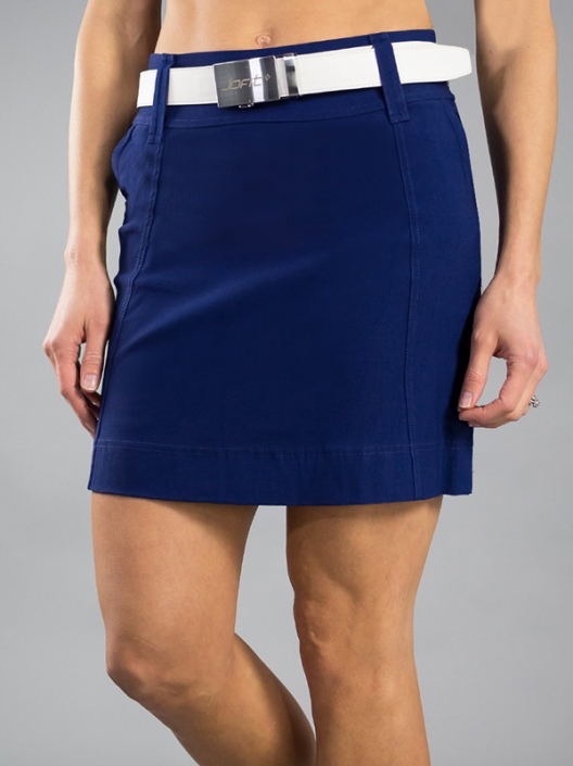 97e563c4bf3 Lori s Golf Shoppe  CLEARANCE JoFit Ladies Elite Slimmer Pull On Golf Skorts  - Limoncello (Blue Depth)