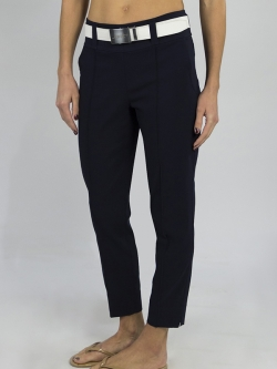 "JoFit Ladies & Plus Size 29"" Inseam Slimmer Cropped Pull On Golf Pants - Mai Tai (Midnight Navy)"