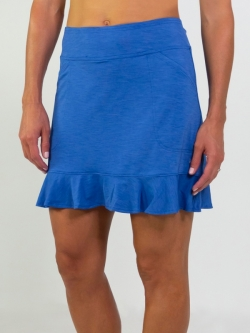 JoFit Ladies Millie Long Pull On Golf Skorts - Champagne (Nassau Blue)