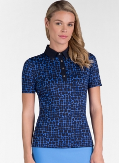 Tail Ladies MODERN OASIS Arya Short Sleeve Golf Tops - Milestone