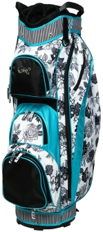 Glove It Ladies 14-Way Golf Cart Bags - B/W Rose