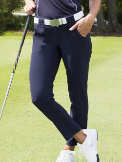 JoFit Ladies Belted Cropped Golf Pants - Paloma (Midnight)