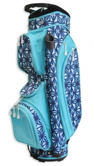 CLEARANCE All for Color Ladies Golf Cart Bags - Indigo Batik