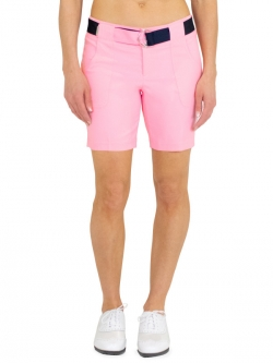 JoFit Ladies Belted Golf Shorts - Sherry (Confetti Pink)