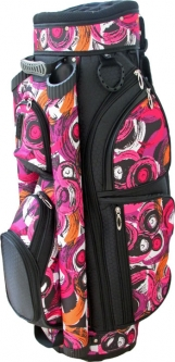 LGS Ladies Golf Cart Bags – Brush Strokes (Black, Pink, Orange & White)