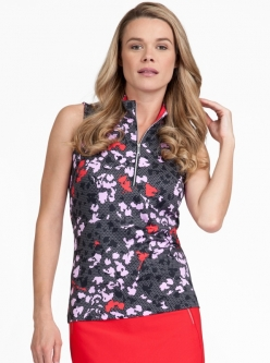Tail Ladies RENDEZVOUS Fannie Sleeveless Golf Tops - Fusion