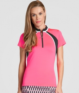 CLEARANCE Tail Ladies Lea Short Sleeve Golf Tops - RADIANCE (Soleil)