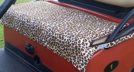 Leopard Print Seat Covers   Golf Cart Seat Covers on