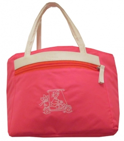 Isaac Mizrahi Ladies Golf/Tennis Cooler Totes - Golf Gals (Diva Pink)