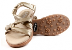 Sandbaggers Ladies Golf Sandals - Grace Gold