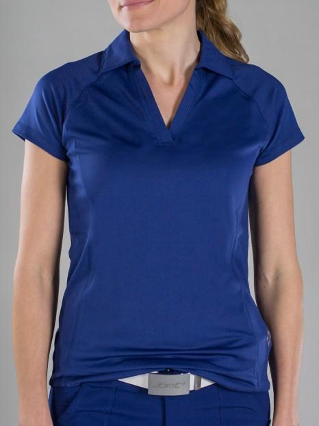 34172129b8547c CLEARANCE JoFit Ladies Jo Tech Short Sleeve Golf Polo Shirts - Madras (Blue  Depth)