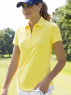 JoFit Ladies & Plus Size Short Sleeve Performance Golf Polo Shirts - Limoncello (Vibrant Yellow)