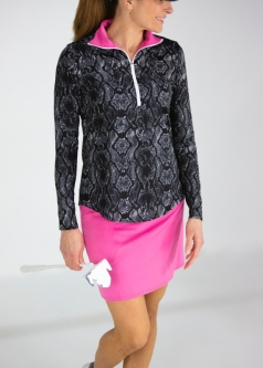 bacbb86b0f2 JoFit Ladies   Plus Size Golf Outfits (Long Sleeve Shirt   Long Skort) -